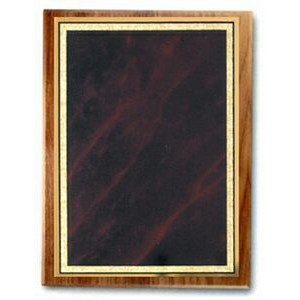 American Black Walnut Plaque w/ Red Marble Mist Series Plate (10